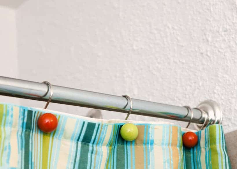 best curtain rod for tiles