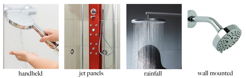 Different Types of Shower Heads : handheld, wall-mounted, rainfall, pulsating, ... 1