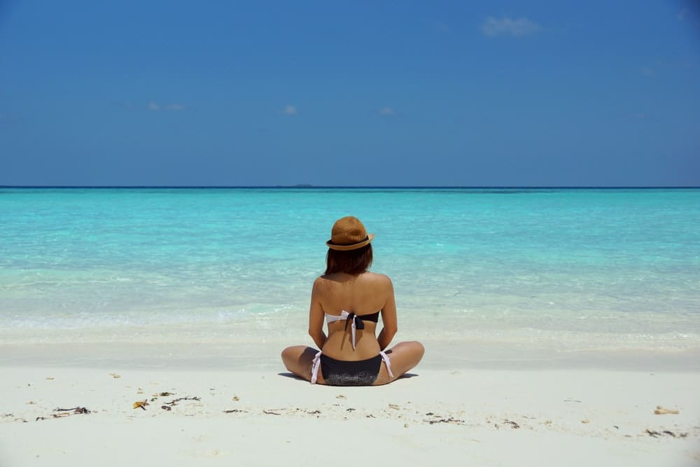 bikini beach tanning