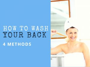 How to shower your back ?
