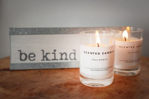 burning scented candle